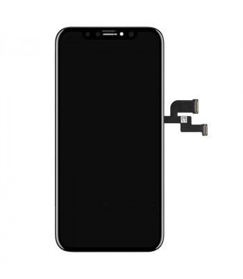 Дисплейный модуль в сборе с тачскрином для iPhone X черный с рамкой AMOLED HEX