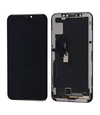 Дисплей в сборе с тачскрином для iPhone Xs черный с рамкой AMOLED HEX